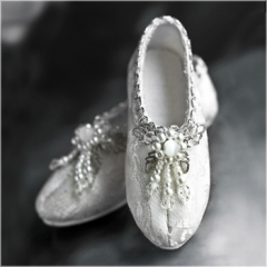 1/3 Antique silver shoes