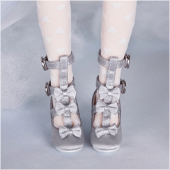 1/4 silver & grey loli shoes