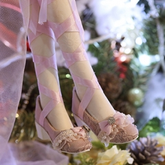 1/3 BJD Youth Purple Lace Princess Shoes