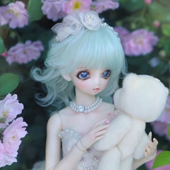 1/4 kids Doris Mint Green Curl Wig
