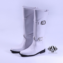 70+ Male Retro Euro White Long Boots