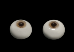 14mm glass eyes honey tea iris